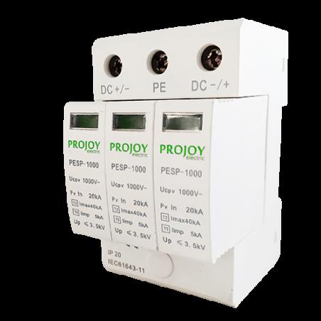 PESP1000 (Tipo 2 / Tipo 1 + 2) Protector contra sobretensiones de CC