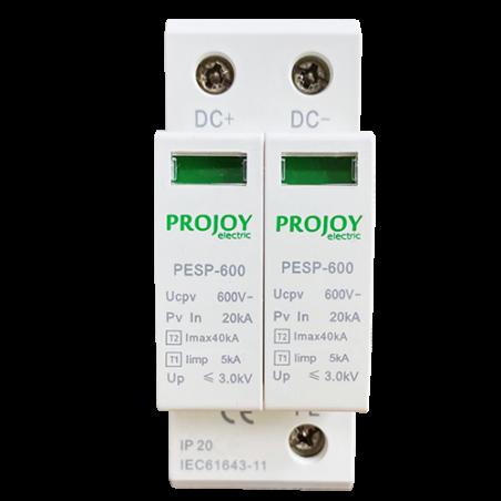 PESP600 (Tipo 2 / Tipo 1 + 2) Protector contra sobretensiones de CC