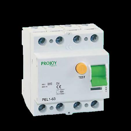 4P 40A 30mA PEL1-63 Protección diferencial