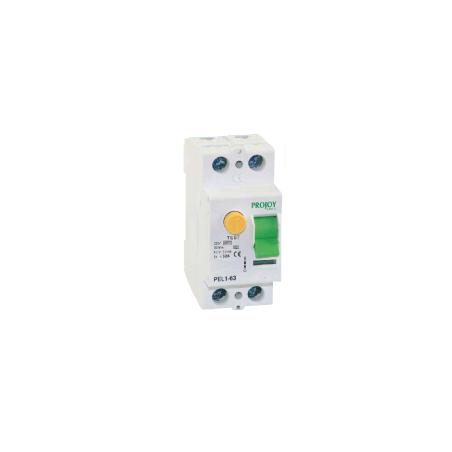 2P 40A 30mA PEL1-63 Protección diferencial